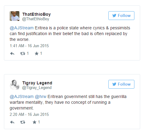 Ethiopians dominating discourse on Eritrea